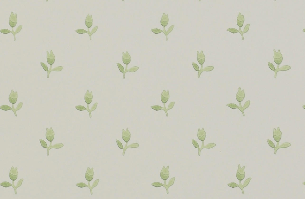 Tienda online telas papel papel pintado tulipanes verde - Papel pintado verde ...