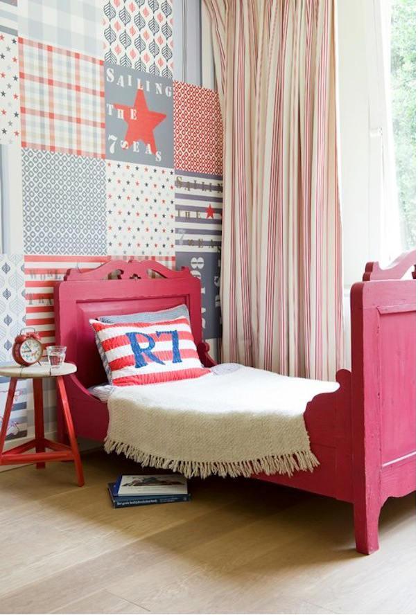 Tienda online telas papel papel pintado para el - Cabecero cama pintado ...