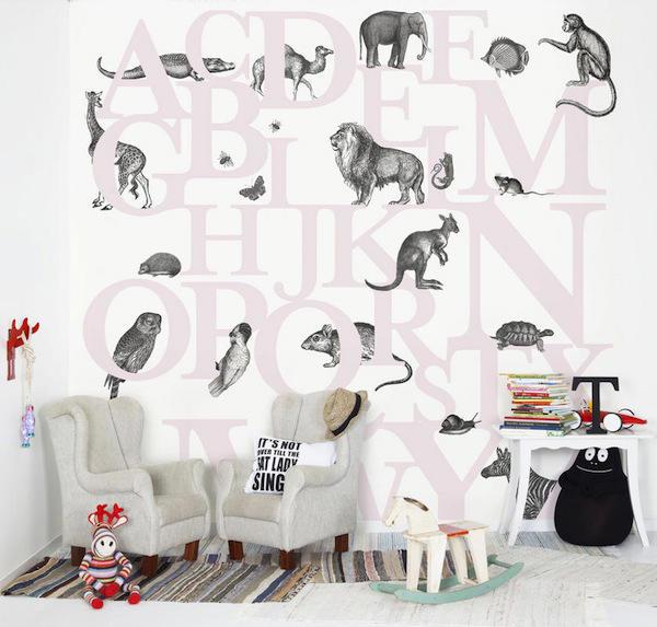 Tienda online telas papel papel pintado con letras for Donde venden papel mural