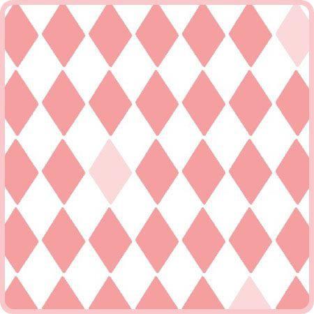 Mural papel pintado rombos color rosa telas papel for Papel pintado mural