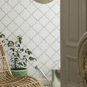 Tienda online telas papel papel pintado con trellis de - Papeles pintados online ...