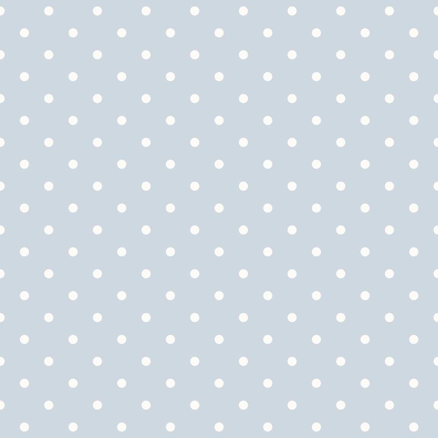 Papel pintado lunares vintage color azulito telas papel for Papel pintado lunares