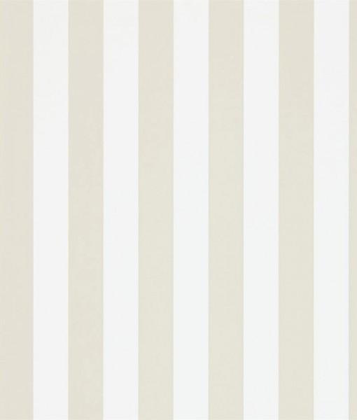 Papel pintado con rayas mimi en color beige y blanco - Salones pintados a rayas ...