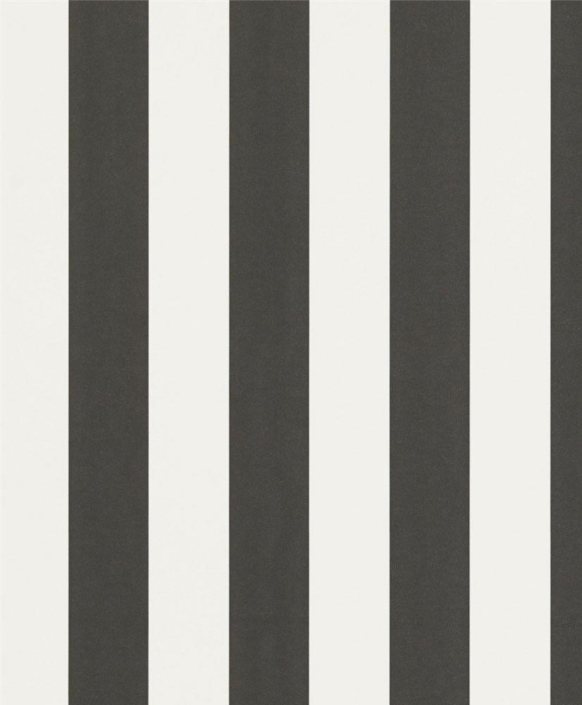 Tienda online telas papel papel pintado con rayas mimi for Papel pintado blanco y negro