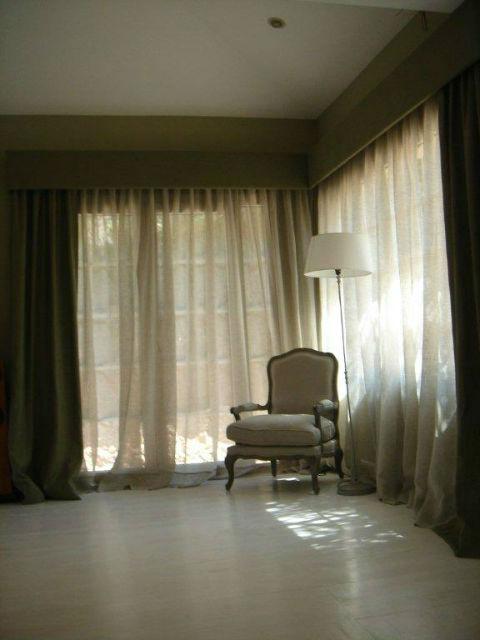 Tienda online telas papel combinar telas en el sal n for Telas cortinas salon