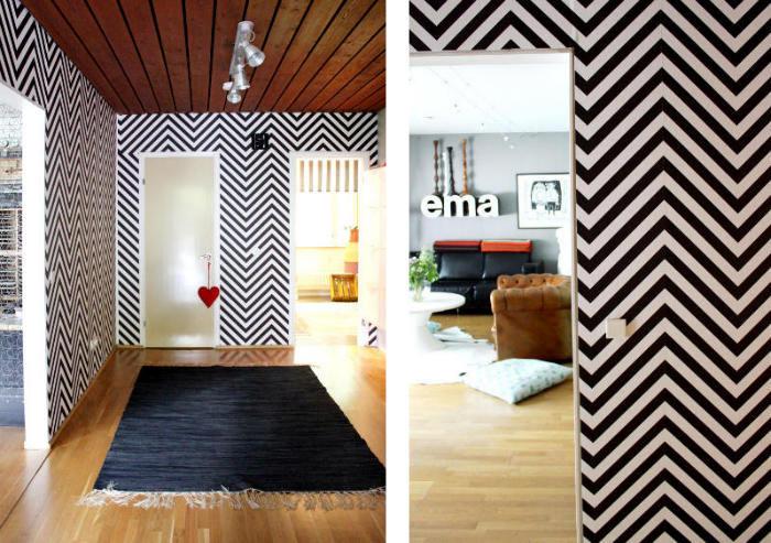 Tienda online telas papel decorar la entrada con papel for Papel pintado recibidor