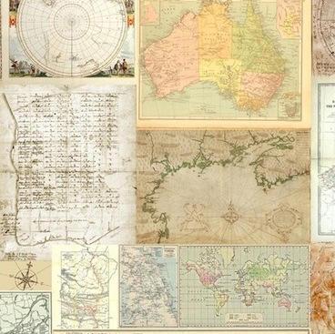 Tienda online telas papel mural papel pintado de mapas - Papel pintado mapa ...