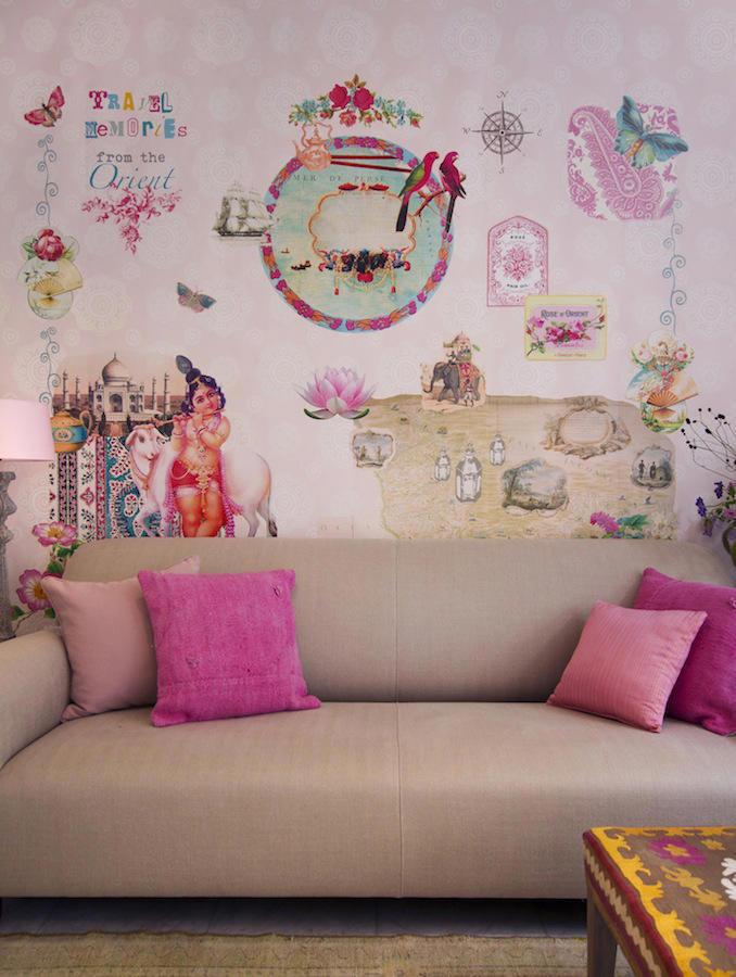 Tienda online telas papel mural papel pintado orient for Colocar papel mural