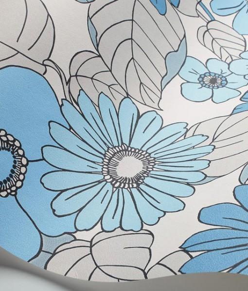 Tienda online telas papel papel pintado happy flores - Papeles pintados on line ...