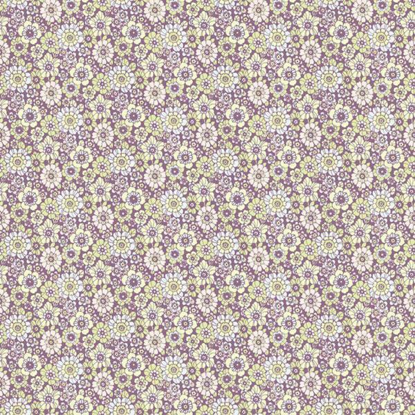 Papel pintado flores vintage happy lila telas papel Papel pintado vintage