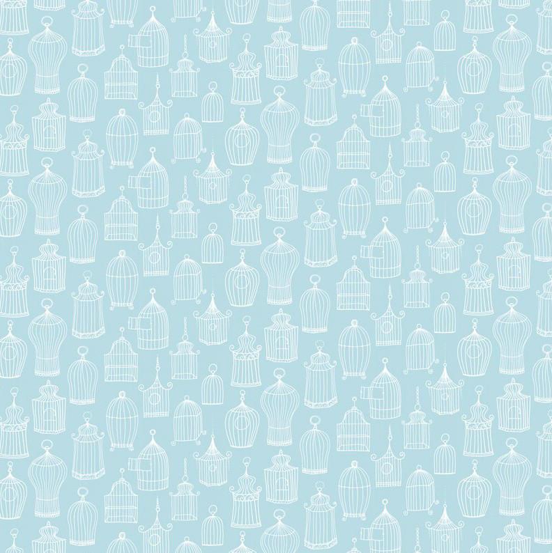 papel pintado jaulas celine azul turquesa telas papel