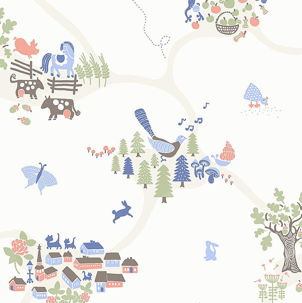 Tienda online telas papel papel pintado infantil emil - Papel pintado infantil ...