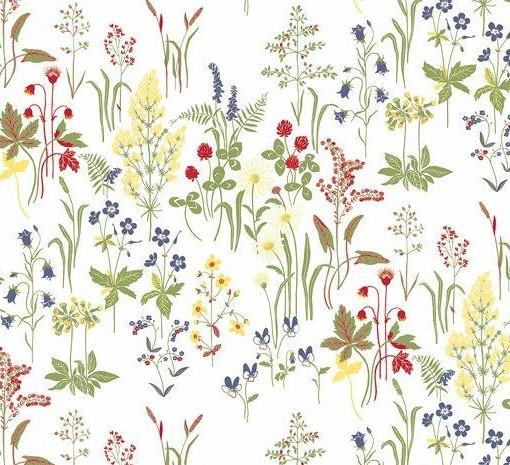 Tienda online telas papel papel pintado de flores flora - Papeles pintados on line ...