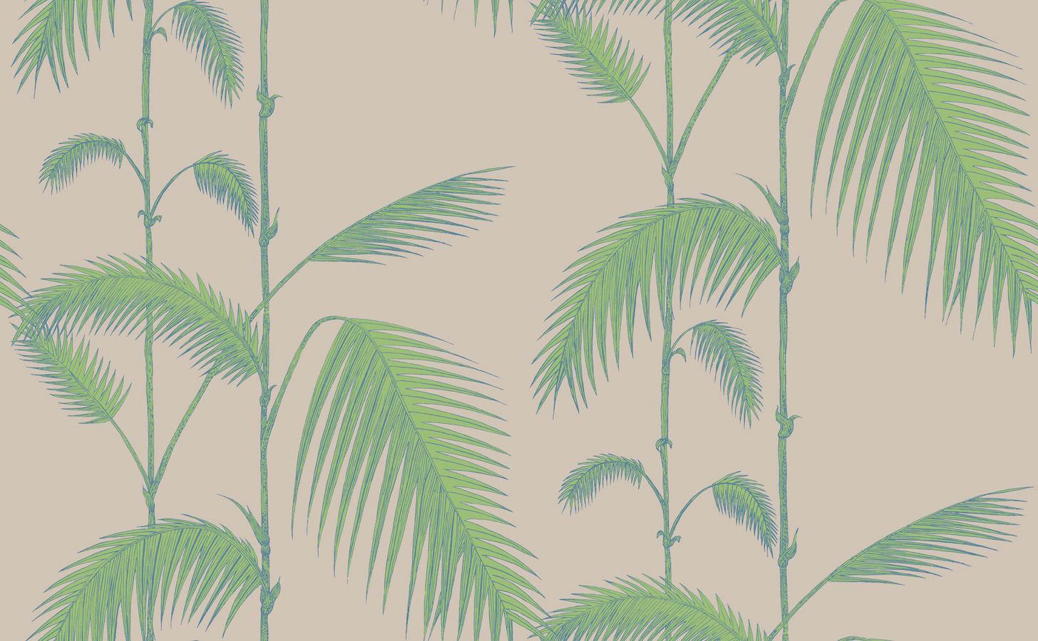 tienda online telas papel papel pintado palmeras color