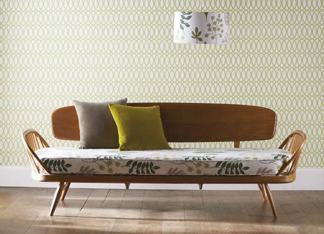 Tienda online telas papel papeles pintados a os 70 for Zapatillas paredes anos 70