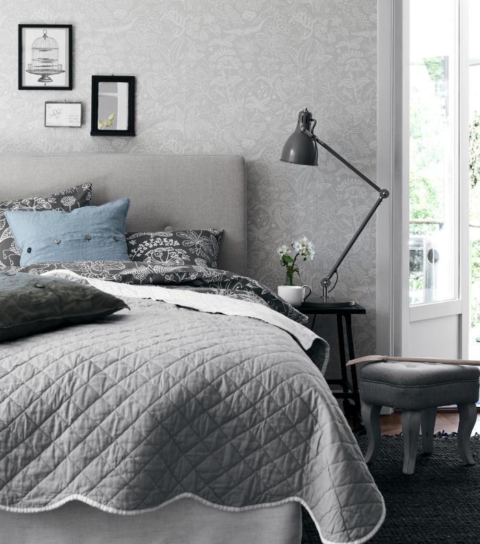 Tienda online telas papel un dormitorio empapelado con - Ideas papel pintado dormitorio ...