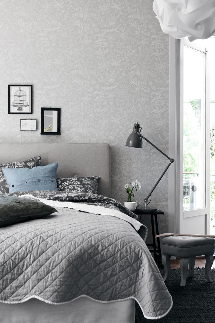 Tienda online telas papel un dormitorio empapelado con - Papel pintado para dormitorio juvenil ...