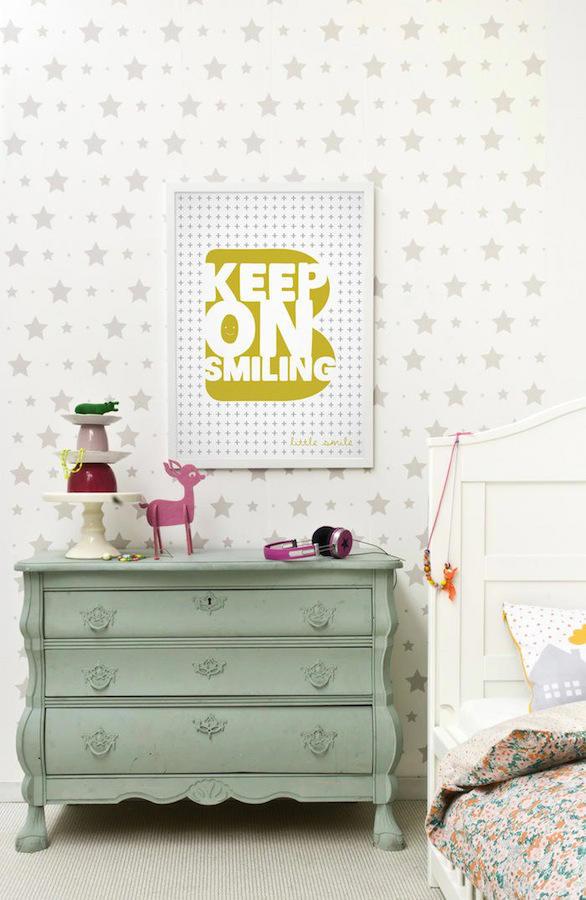 Tienda online telas papel mural papel pintado con estrellas y estrellitas gris piedra for Papel pintado piedra gris