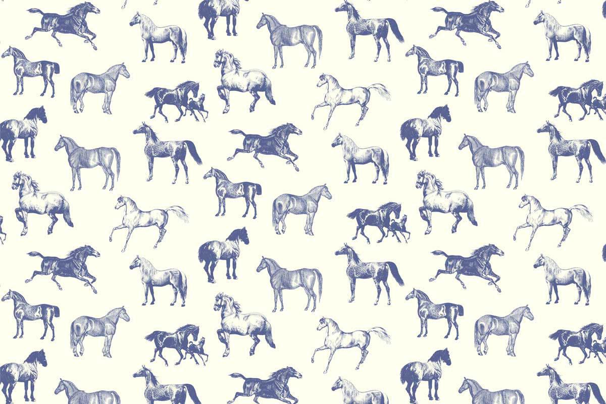 Tienda online telas papel papel pintado con caballos - Papel pintado animales ...
