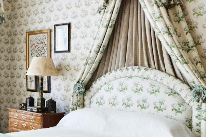 Rom nticos dormitorios con el papel bowood telas papel - Cabeceros papel pintado ...