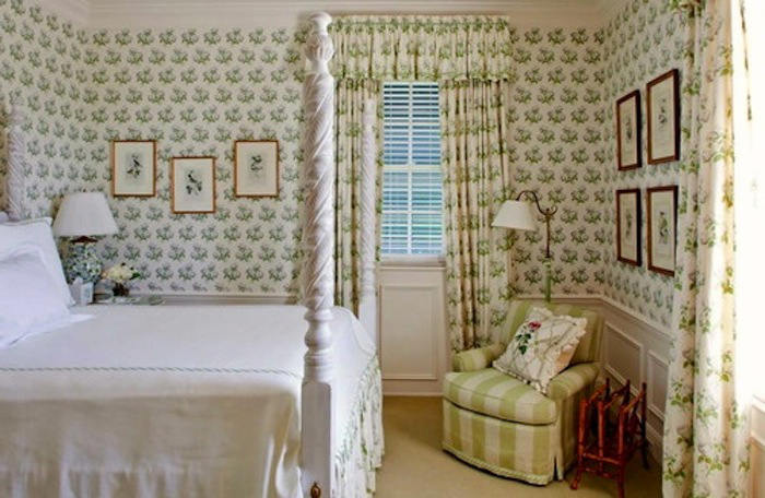 Tienda online telas papel rom nticos dormitorios con - Papel empapelar paredes ...