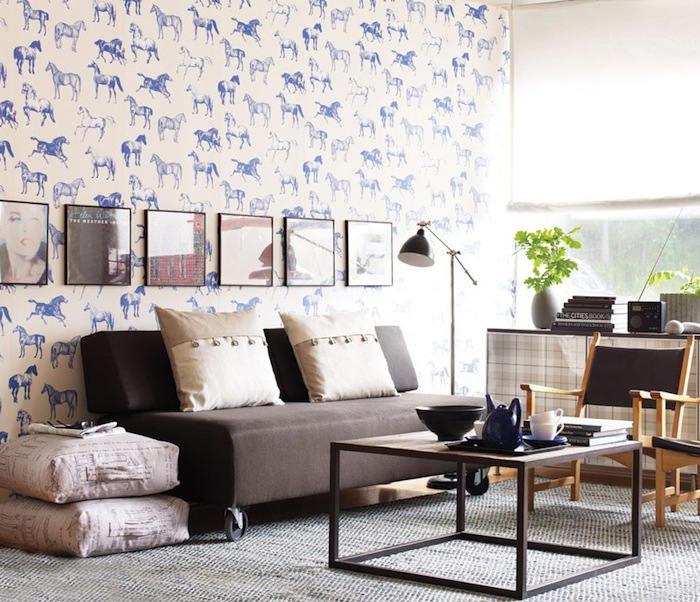 Tienda online telas papel un precioso papel pintado for Papel pintado salon marron