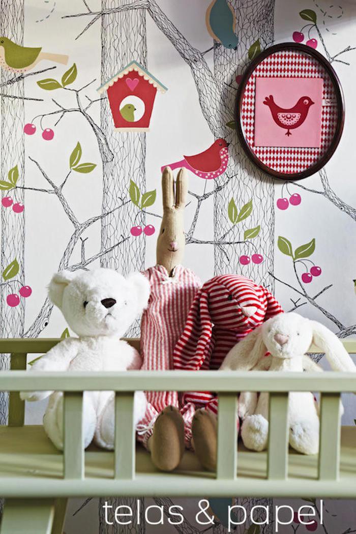 Decora las paredes con el papel pintado infantil bosque for Dormitorio infantil bosque