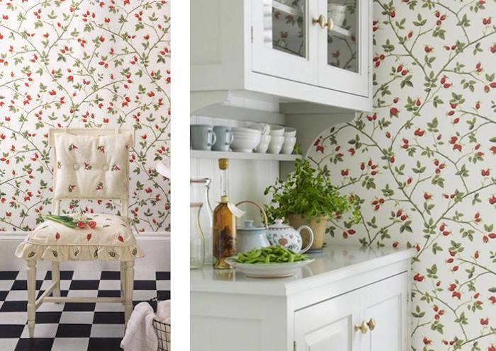Tienda online telas papel papel pintado kerstin for Papel pintado vinilico cocina