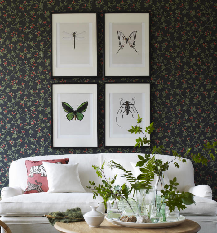 sofa blanco sobre papel negro kerstin
