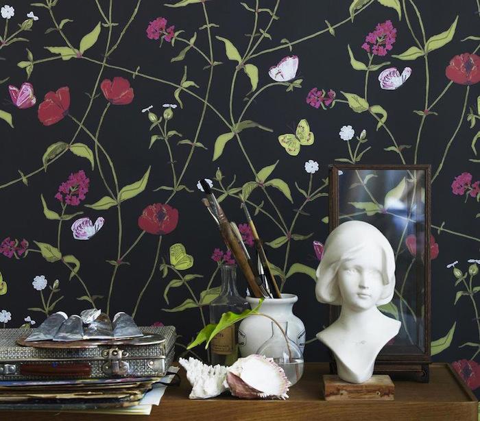 Tienda online telas papel novedades en nuestra tienda - Papel pintado mariposas ...