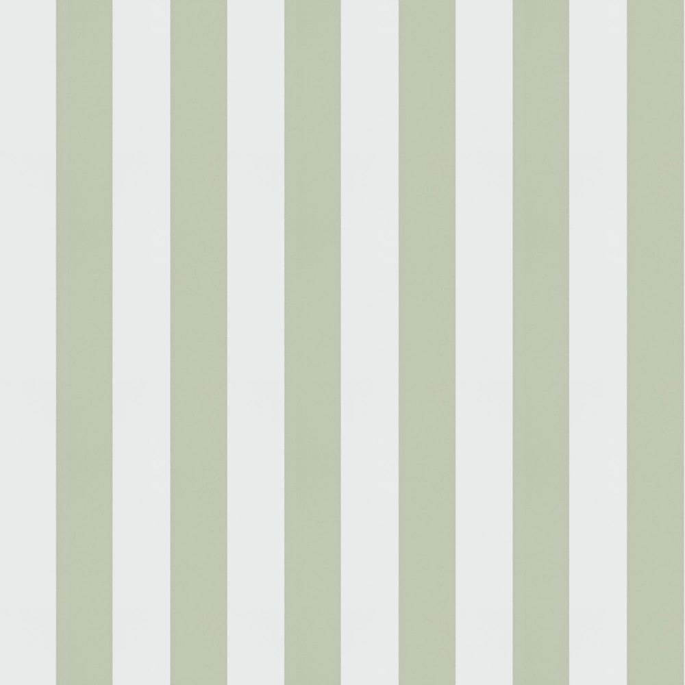 Papel pintado de rayas kristina verde telas papel - Papel pared rayas verticales ...