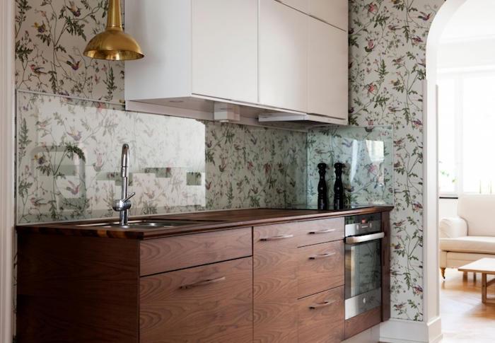 Tienda online telas papel decorando con un cl sico - Papel de pared para cocina ...