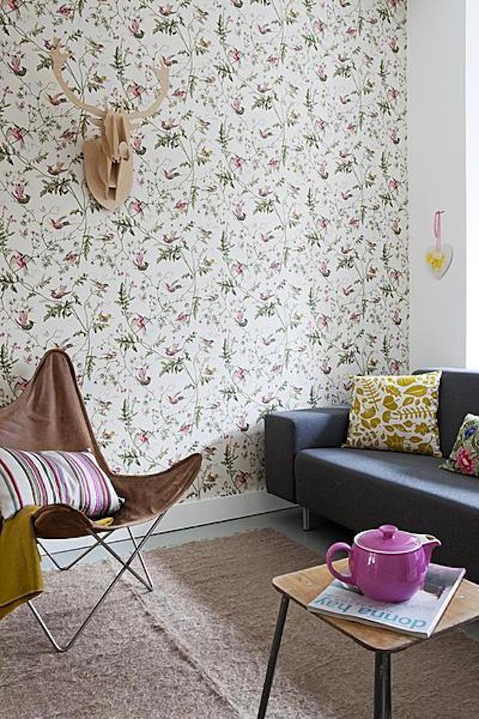 Tienda online telas papel decorando con un cl sico - Salones decorados con papel pintado ...