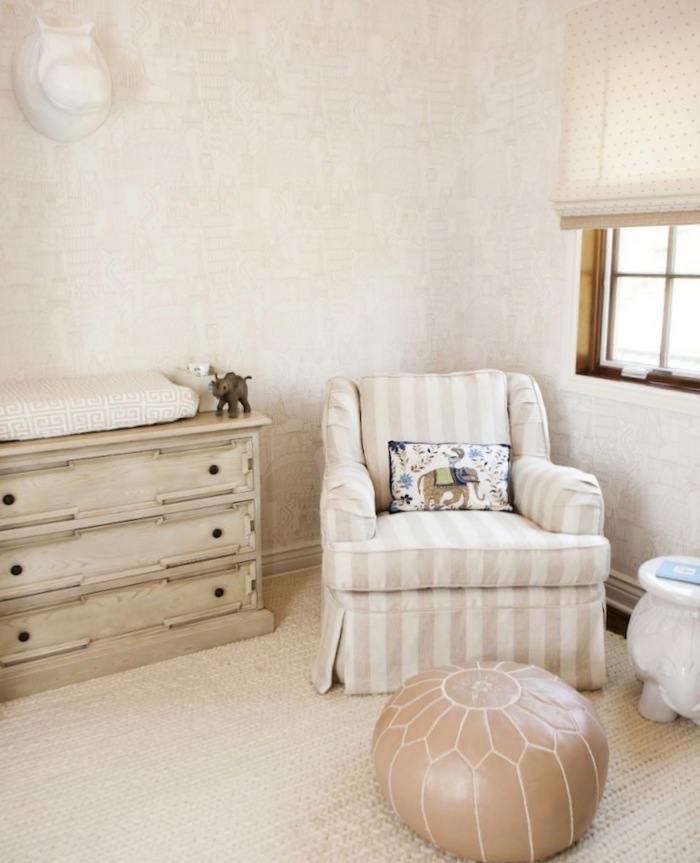 Decorar la habitaci n del bebe con el papel pa ses telas - Habitacion bebe papel pintado ...