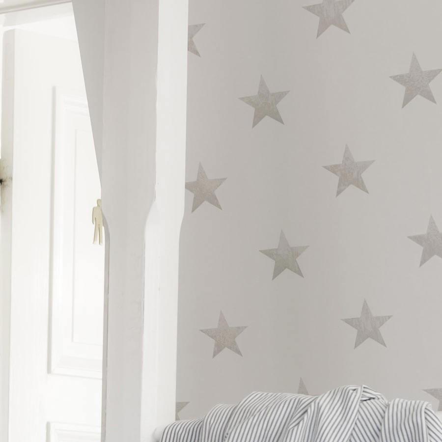 Tienda online telas papel papel pintado estrellas for Decoracion habitacion bebe papel pintado