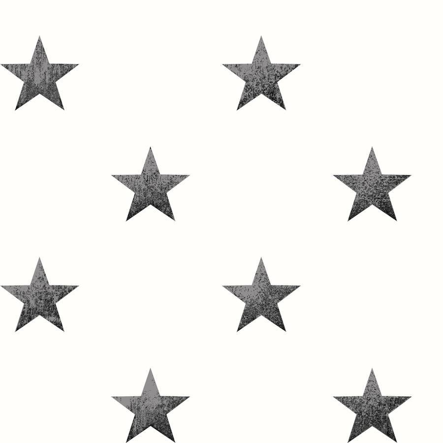 Tienda online telas papel papel pintado estrellas - Papel pintado negro ...