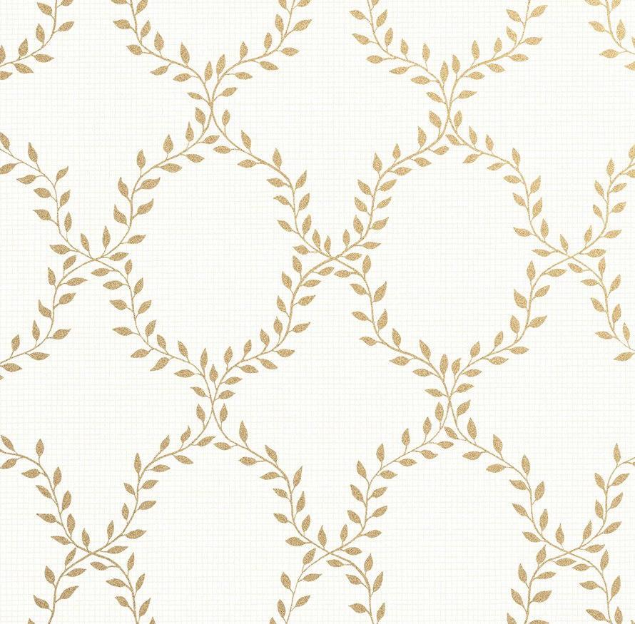 Tienda online telas papel papel pintado trellis de for Papel pintado dorado