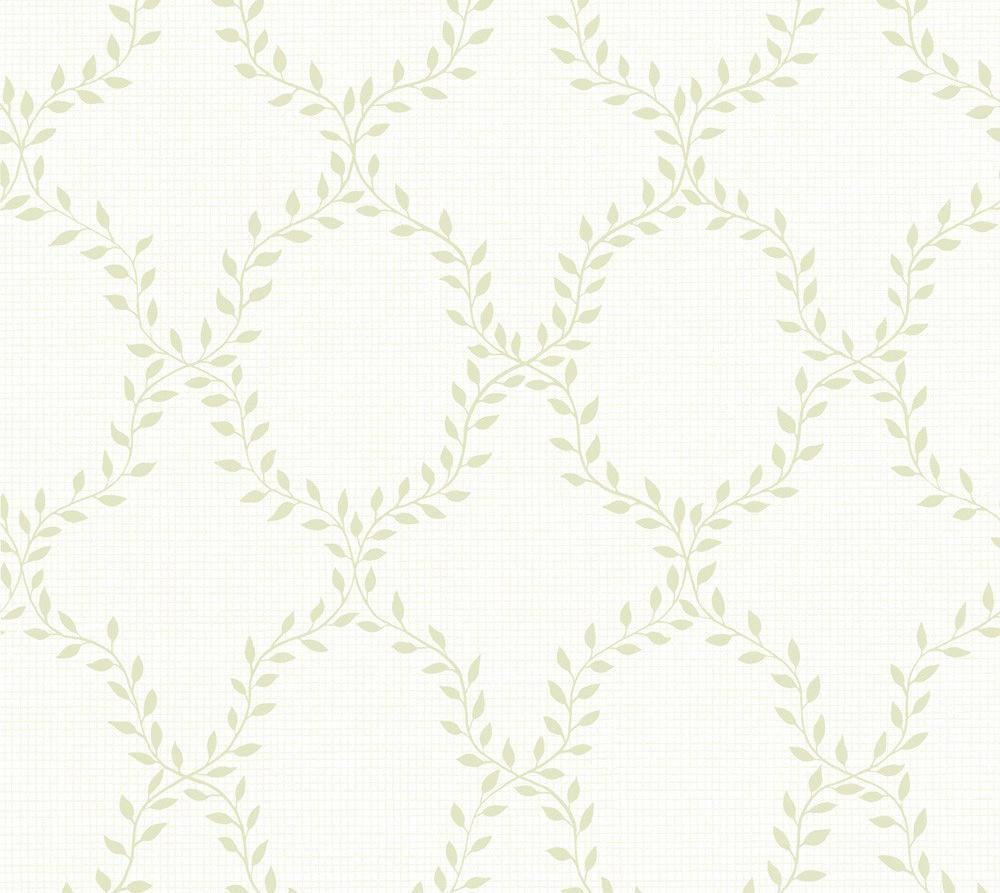 Tienda online telas papel papel pintado trellis de - Papel pintado verde ...