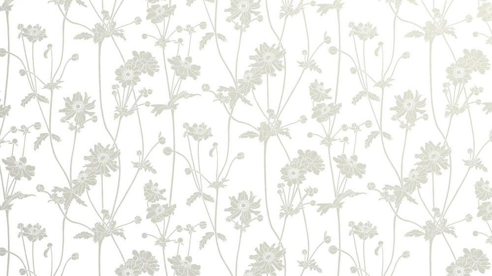 Tienda online telas papel papel pintado flores sophie for Papel pintado color plata