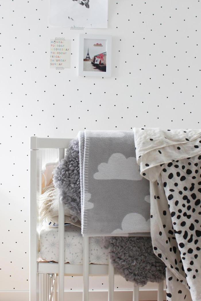 Tienda online telas papel papel pintado con lunares - Papeles pared infantiles ...