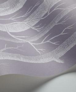 Tienda online telas papel papel troncos y peras blanco for Papel pintado blanco y gris