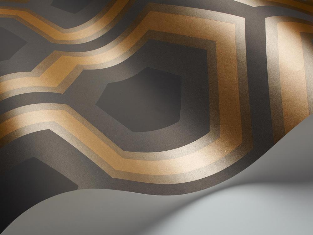 Tienda online telas papel papel pintado hex gonos for Papel pintado marron chocolate
