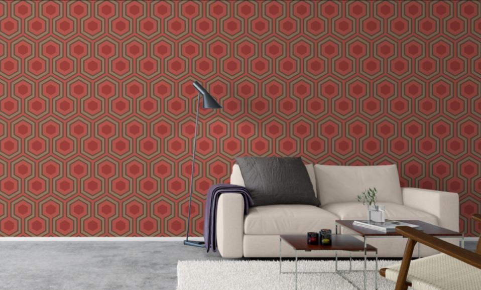 tienda online telas & papel | papel pintado hexágonos ...
