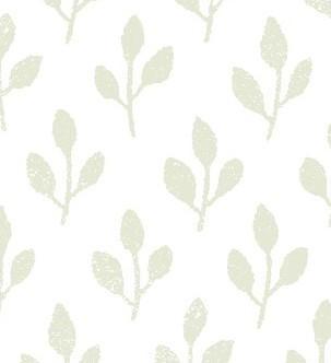 Papel pintado hojas selma color verde telas papel for Papel pintado hojas verdes