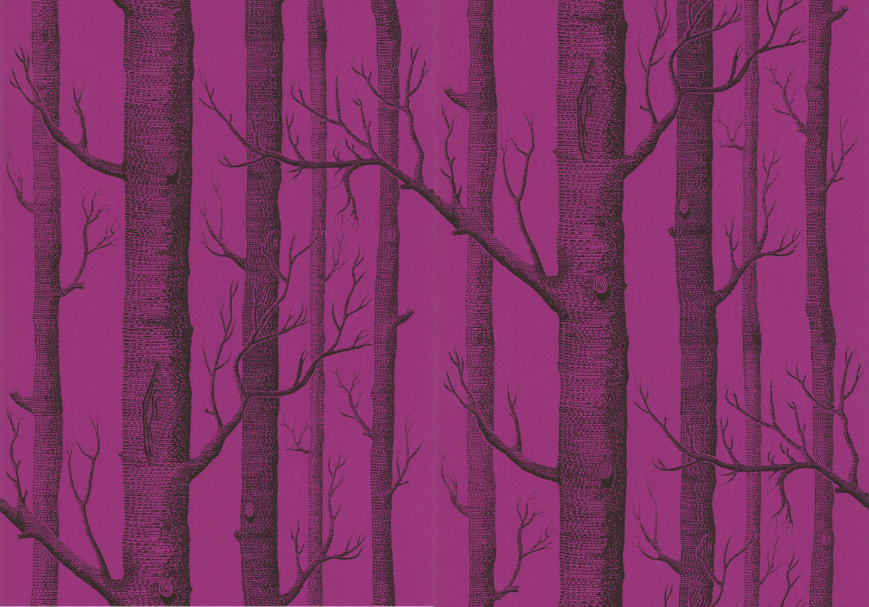 tienda online telas papel papel pintado arboles color vino