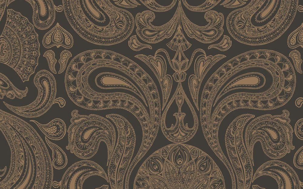 Tienda online telas papel papel pintado malabar color for Papel pintado color marron