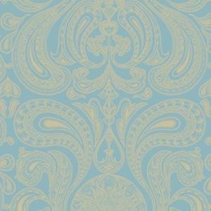 Tienda online telas papel papel pintado malabar color for Papel pintado dorado