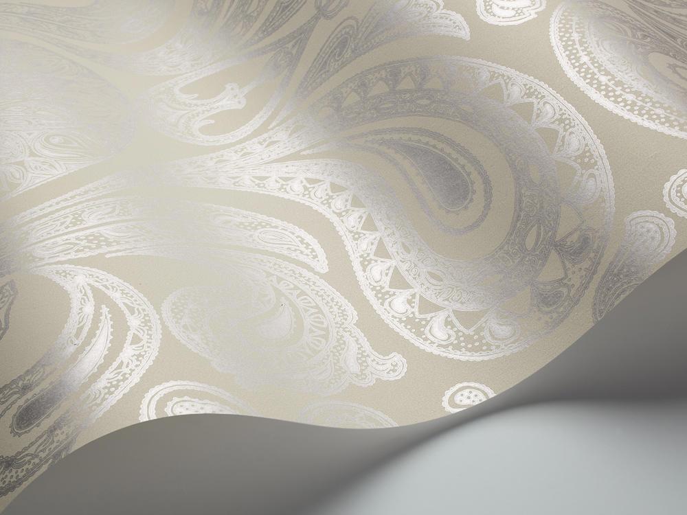 Tienda online telas papel papel pintado malabar piedra - Papel pintado color plata ...