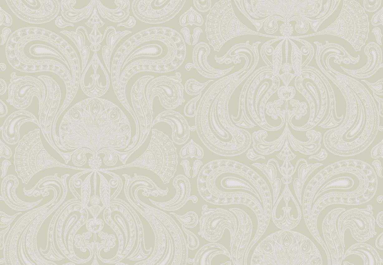 Tienda online telas papel papel pintado malabar piedra - Papel pintado plateado ...