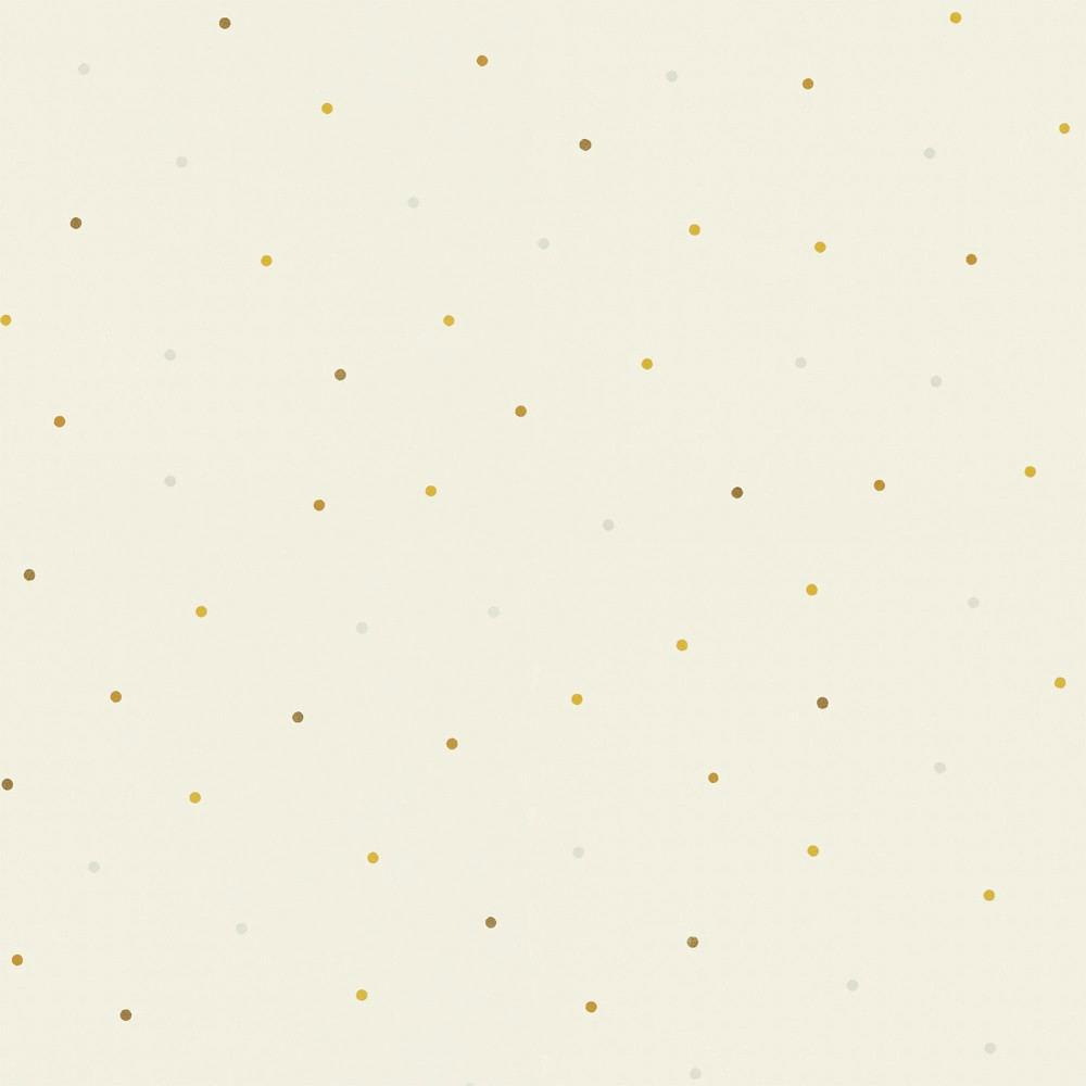 Tienda online telas papel papel pintado lunares mia blanco for Papel pintado de lunares
